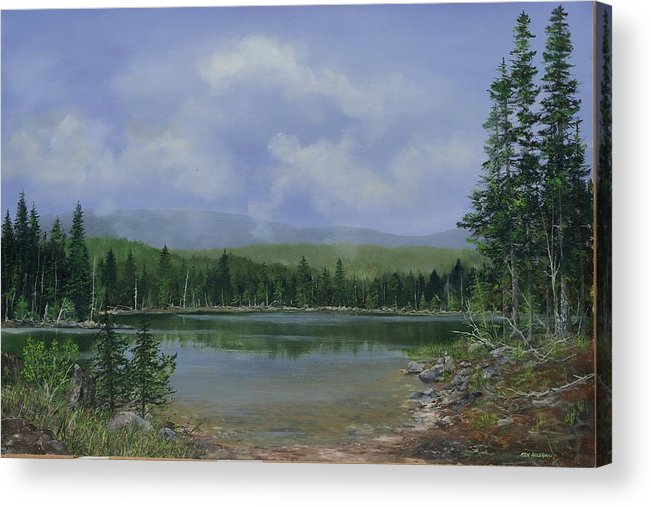 Lake Acrylic Print featuring the painting Upland Lake by Ken Ahlering
