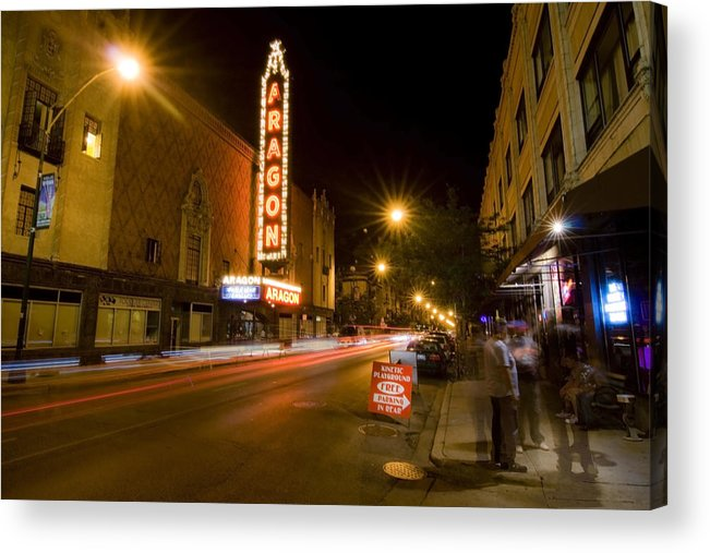 Aragon Ballrooom Acrylic Print featuring the photograph Uptown Street Scene by Sven Brogren