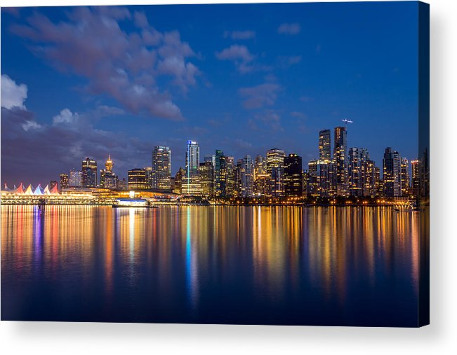 Vancouver Acrylic Print featuring the photograph Vancouver City Twilight by Pierre Leclerc Photography