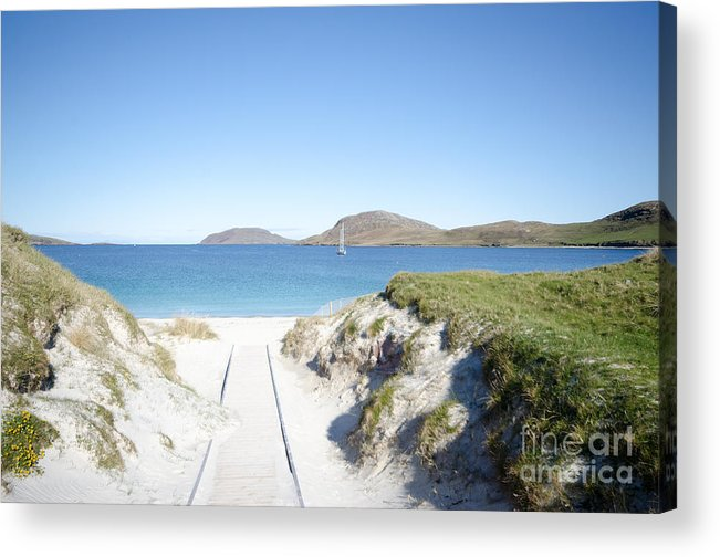 Vatersay Bay Acrylic Print featuring the photograph Vatersay by Smart Aviation