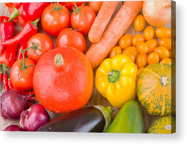 Vegetables Acrylic Print featuring the photograph Vegetables by Anastasy Yarmolovich