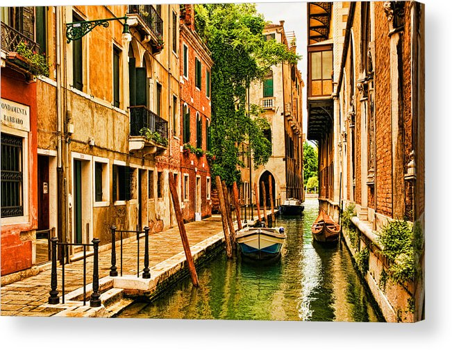 Venice Acrylic Print featuring the photograph Venice Alley by Mick Burkey