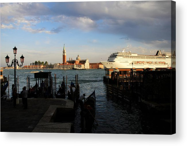 Venice Acrylic Print featuring the photograph Venice Cruise Ship by Andrew Fare