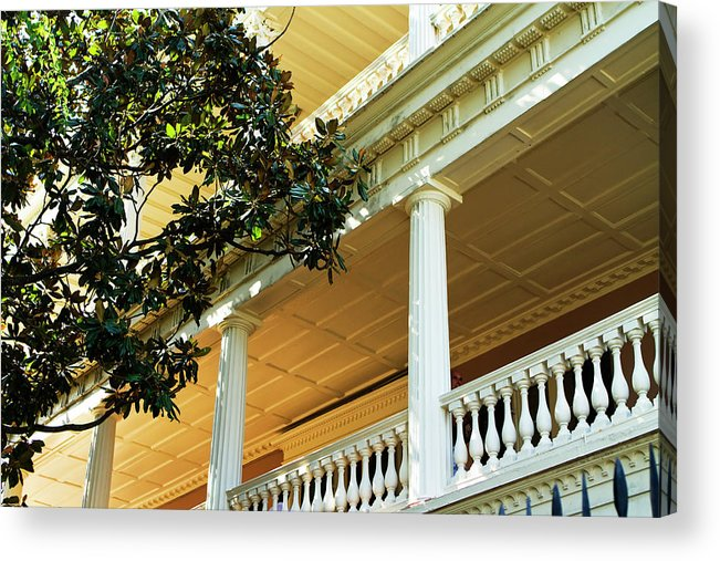 Photo Acrylic Print featuring the photograph Verandas by Alan Hausenflock