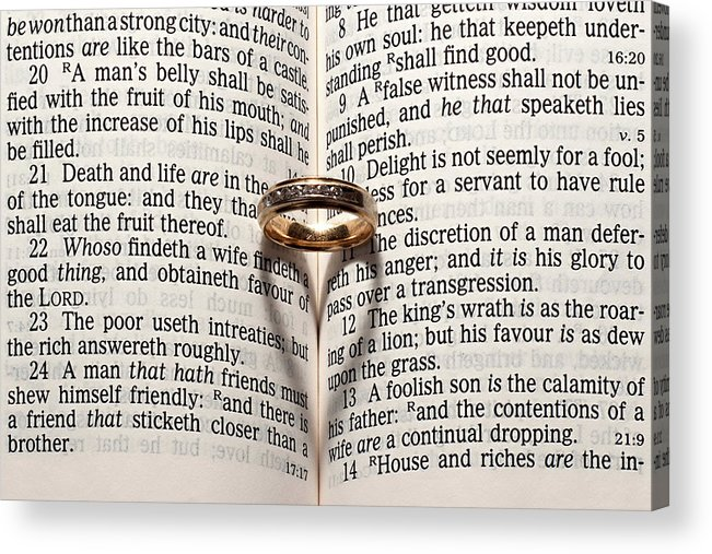 Bible Acrylic Print featuring the photograph Verse 22 by Jim Cole