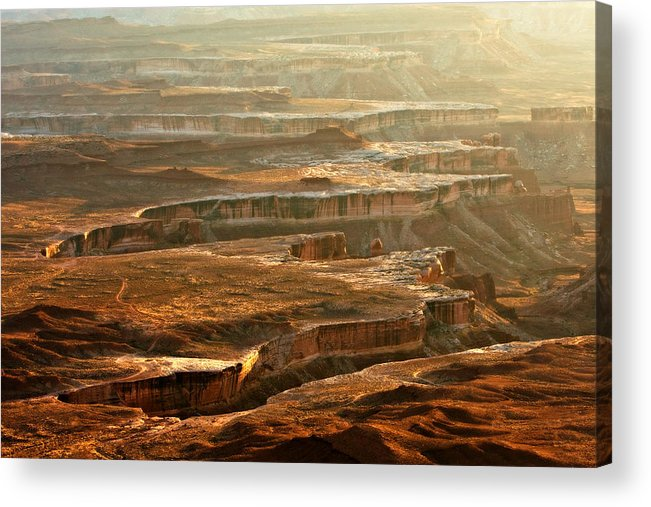 Landscape Acrylic Print featuring the photograph View Of Canyonlands by Carl Jackson