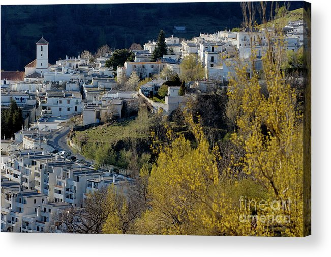 Alpujarras Mountains Acrylic Print featuring the photograph View Of Capileira Village In The Alpujarras Mountains In Andalusia by Sami Sarkis