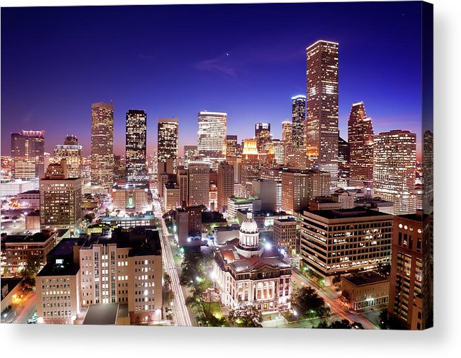 Horizontal Acrylic Print featuring the photograph View Of Cityscape by jld3 Photography