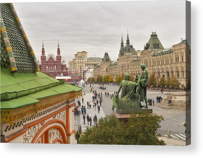 Red Acrylic Print featuring the photograph View Of Red Square In Moscow by Aleksandr Volkov