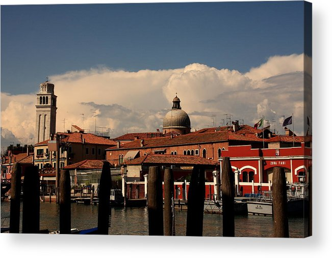 Venice Acrylic Print featuring the photograph View Of San Pietro In Venice by Michael Henderson