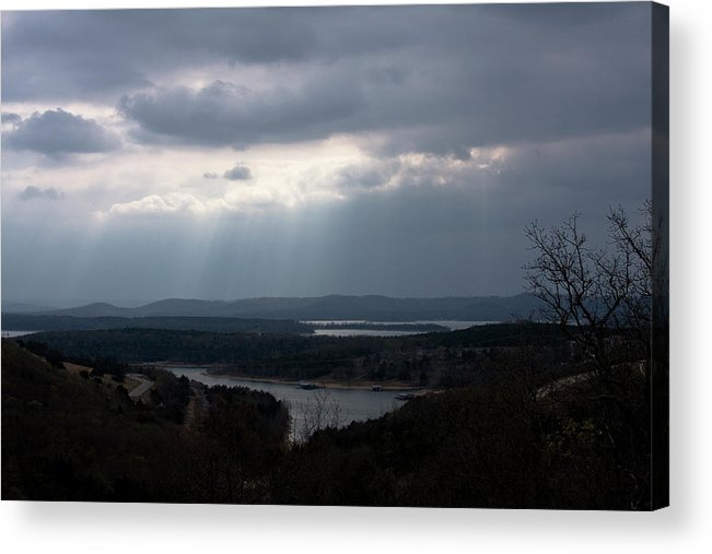Table Rock Lake Branson Missouri Acrylic Print featuring the photograph View Over Table Rock Lake by Gwen Vann-Horn
