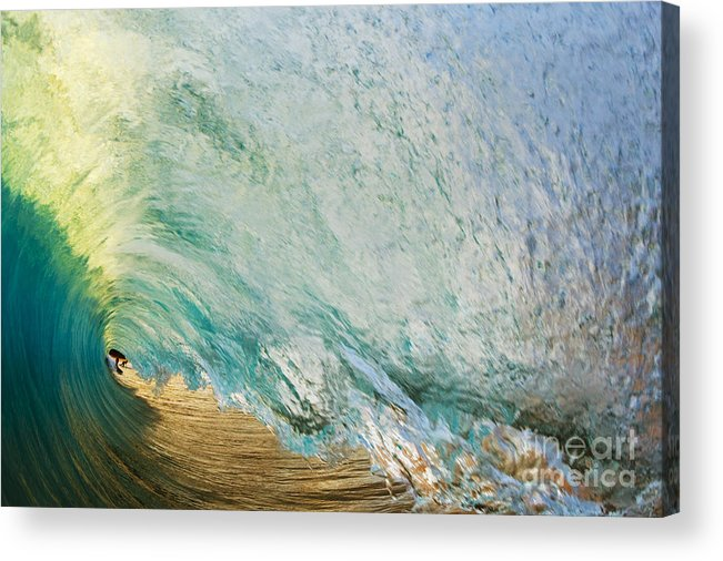 Amazing Acrylic Print featuring the photograph View Through Wave Tube by MakenaStockMedia
