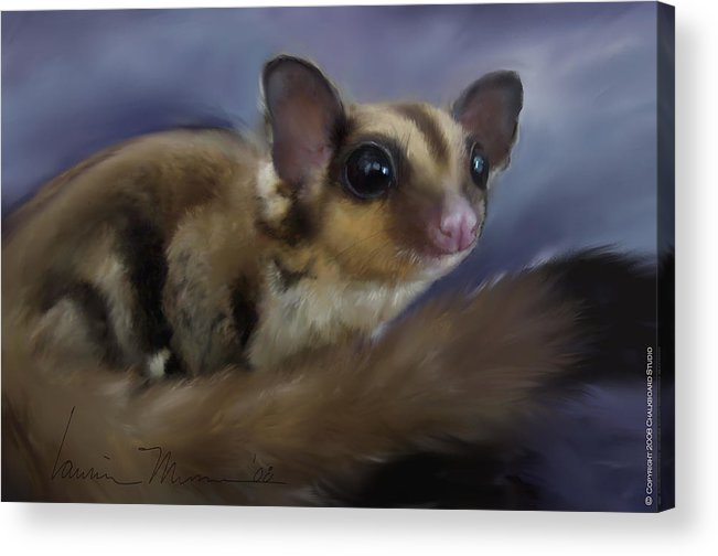 Animal Acrylic Print featuring the painting Vincent V. G. by Laurie Musser