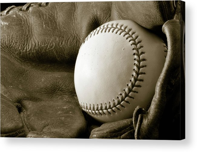 Baseball Acrylic Print featuring the photograph Vintage Glove by Shawn Wood