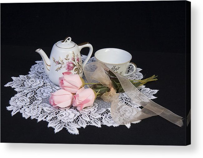 Vintage Acrylic Print featuring the photograph Vintage Tea Set by Trudy Wilkerson