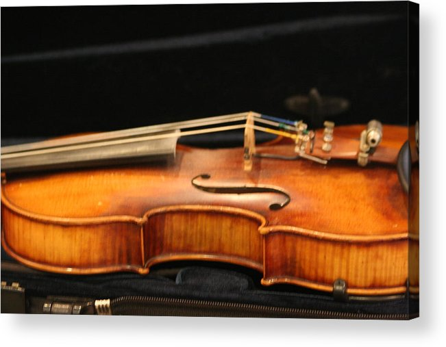 Music Acrylic Print featuring the photograph Violin by Linda Russell