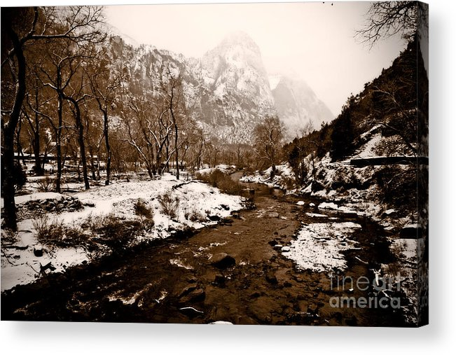 Outdoors Acrylic Print featuring the photograph Virgin River Running I by Irene Abdou