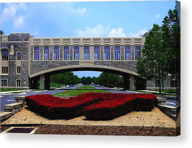 Vt Acrylic Print featuring the photograph Virginia Tech - Torgersen Bridge by Andrew Webb