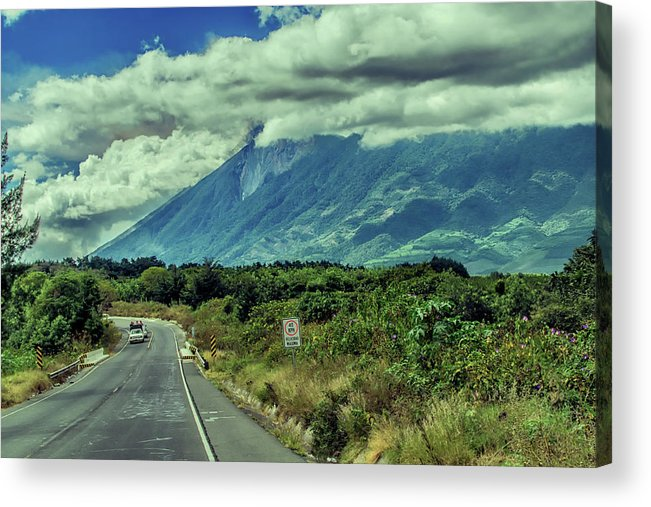 Antigua Guatemala Acrylic Print featuring the photograph Voclan De Fuego - Sacatepequez by Totto Ponce