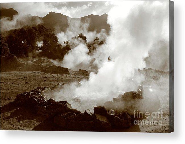 Azores Acrylic Print featuring the photograph Volcanic Steam by Gaspar Avila