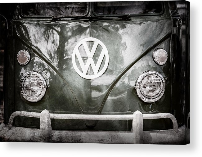 Volkswagen Vw Bus Acrylic Print featuring the photograph Volkswagen Vw Bus -0108ac by Jill Reger