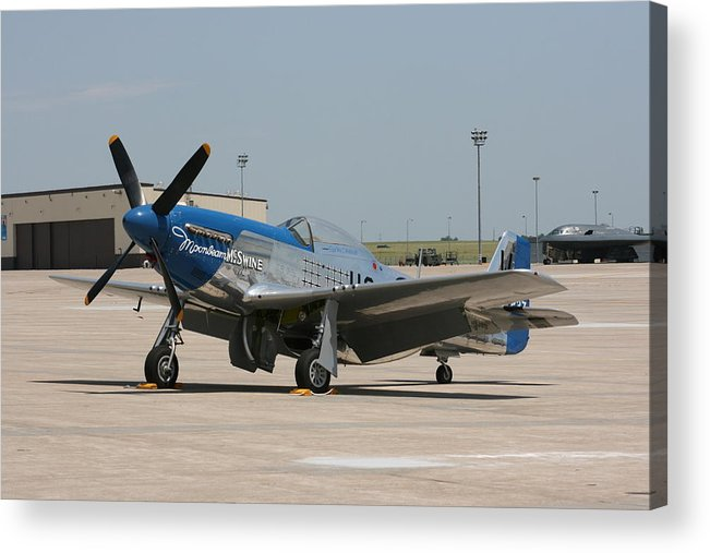 Airplane Acrylic Print featuring the photograph Wafb 09 P-51 Mustang 3 - Darling Of The Sky by David Dunham