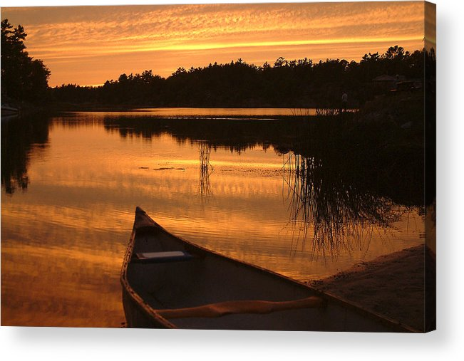 Canoe Acrylic Print featuring the photograph Waiting For Me by Linda McRae