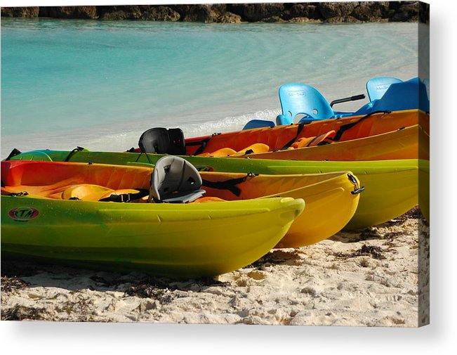 Islands Acrylic Print featuring the photograph Waiting For Play by Lori Mellen-Pagliaro