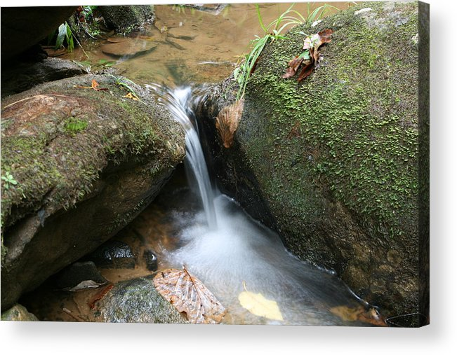 Waterfall Acrylic Print featuring the photograph Water At Work by Walt Reece