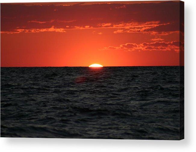 Sun Set Acrylic Print featuring the photograph Water Sun Set by Kevin Dunham