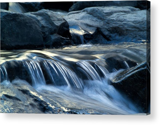 Waterfall Acrylic Print featuring the photograph Waterfall Locomotion by Harry Noble