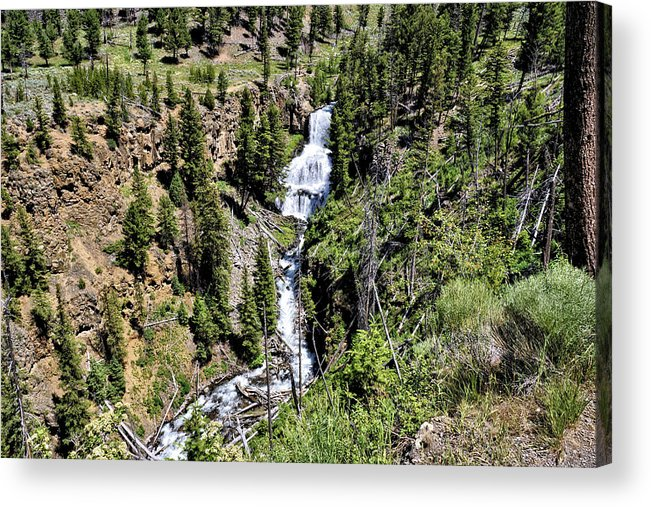 Water Acrylic Print featuring the photograph Waterfall On Lava Creek 2 by John Trommer