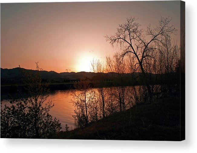 Sunset Fine Art Photography. Sunset. Sunset Wall Art. Lake Sunset Pictures. Golden Sunset. Colorado Sunset. Colorado Sunset Photography. Orange Sunset Colorado. Sunset Eveing In Colorado.lakes. Ponds. Colorado State Photography. Sunrise Phoptography. Acrylic Print featuring the photograph Watson Lake At Sunset by James Steele