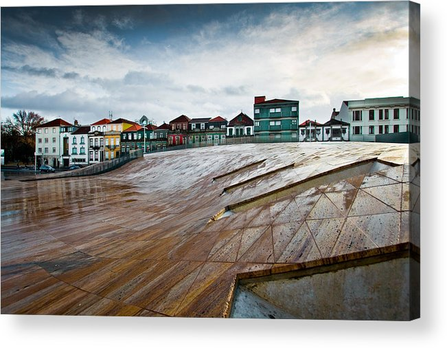 Portugal Acrylic Print featuring the photograph Wave Rock by Nelson Mineiro