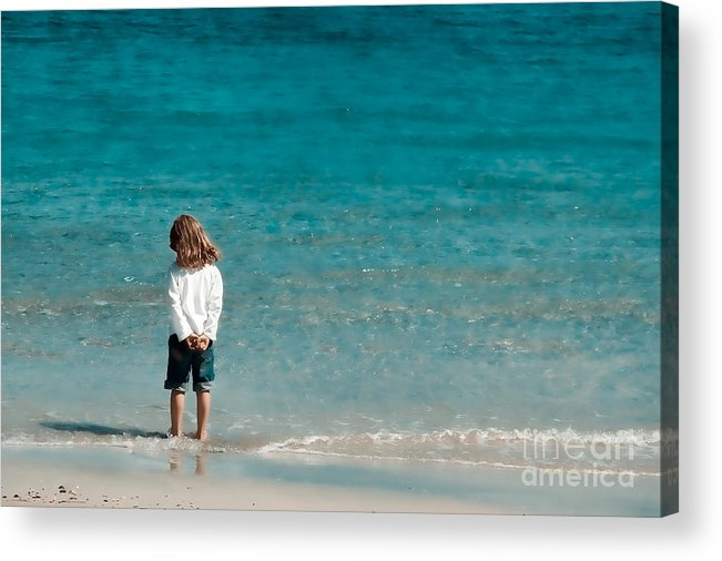 Girl Acrylic Print featuring the photograph Waves by Gabriela Insuratelu