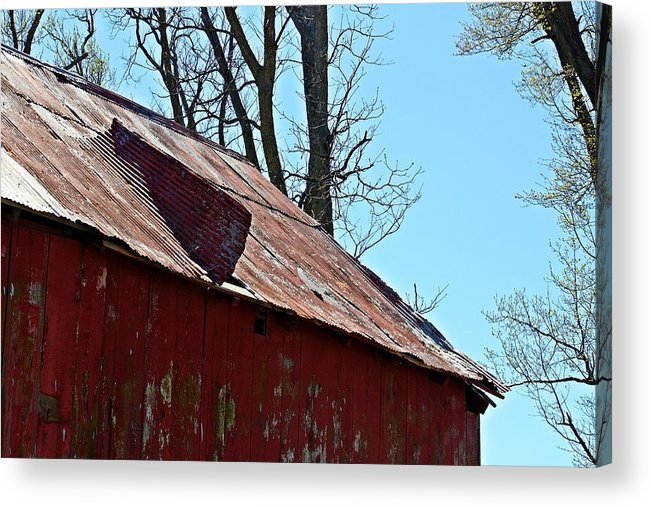 Barn Acrylic Print featuring the photograph Weathered Barn Roof- Fine Art by KayeCee Spain