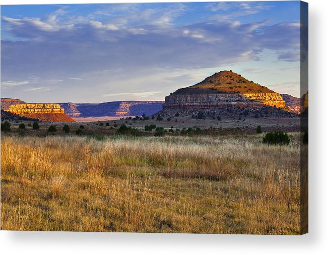 Black Mesa Acrylic Print featuring the photograph Wedding Cake Ranch by Charles Warren