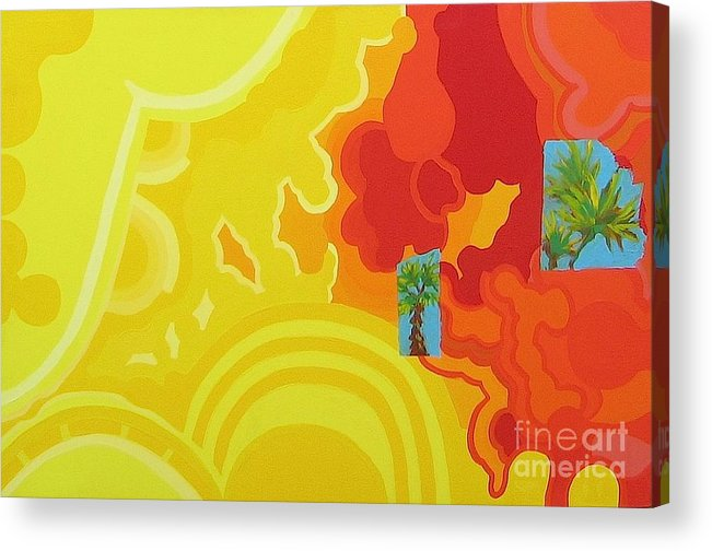 Fire Acrylic Print featuring the painting Welcome To Los Angeles by Takayuki Shimada