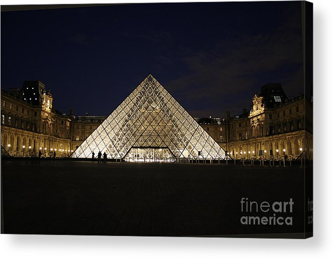Louvre Museum Acrylic Print featuring the photograph Welcome To The Louvre by Joshua Francia