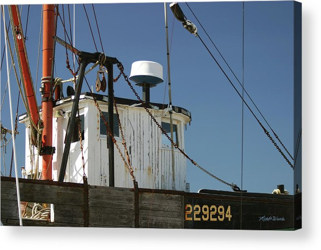 Boat Acrylic Print featuring the photograph Wellfleet Fishing Boat Cape Cod Massachusetts by Michelle Constantine