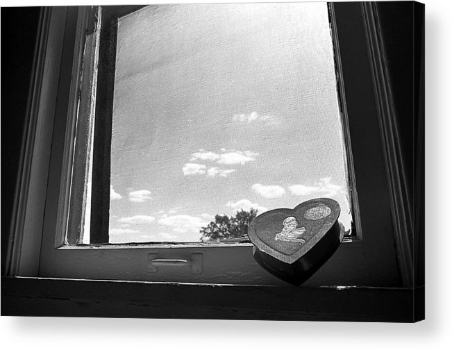 Window Acrylic Print featuring the photograph What Remains by Ted M Tubbs