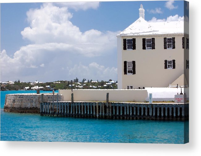 White House Acrylic Print featuring the photograph White House by Richard Ortolano