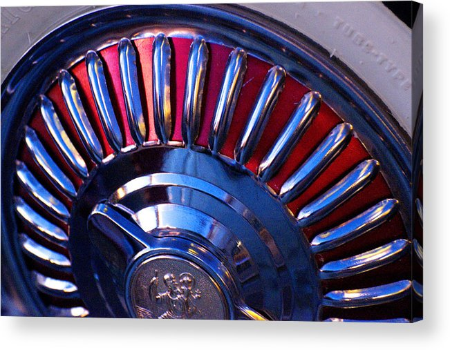 Whitewall Tire Acrylic Print featuring the photograph Whitewall Roulette by Richard Henne