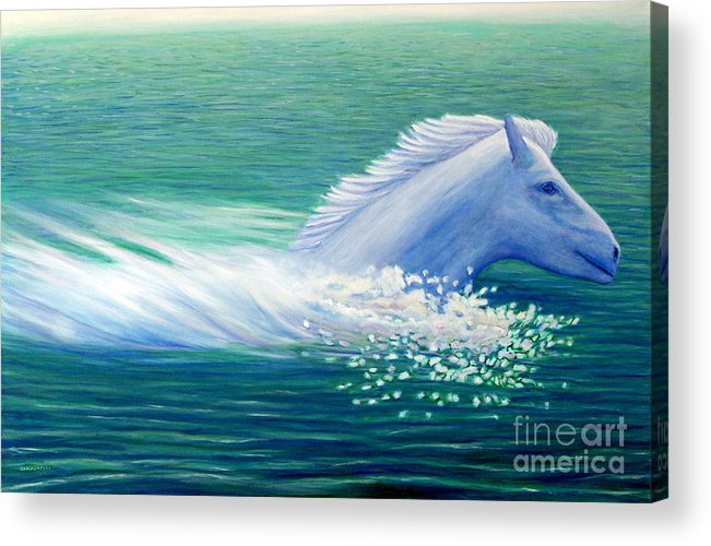 Horse Acrylic Print featuring the painting Will Power by Brian Commerford