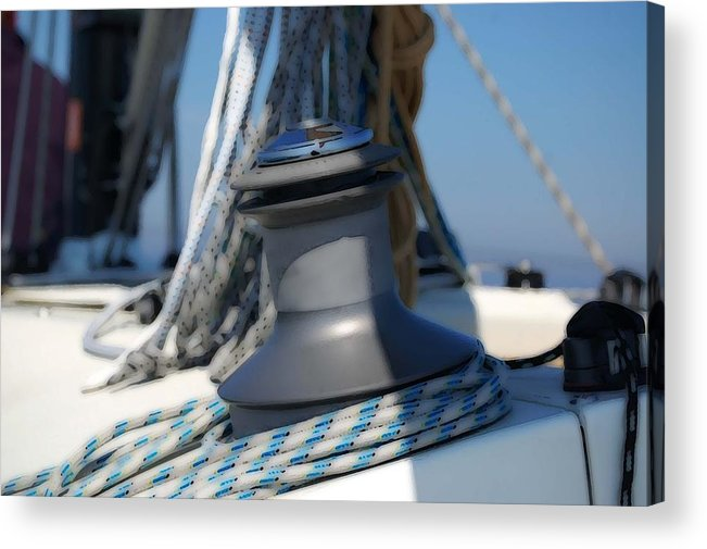 Fairhope Acrylic Print featuring the photograph Winched by Michael Thomas
