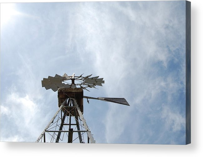 Windmill Acrylic Print featuring the photograph Windmill And Sky by Jean Booth