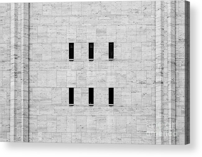 Symmetry Acrylic Print featuring the photograph Window Of Lincoln Center, Upper West Side Manhattan by Edi Chen