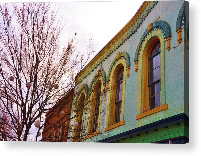 Architectural Acrylic Print featuring the photograph Windows Of Color by Jan Amiss Photography