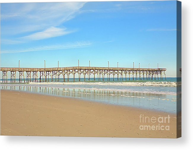 Pier Acrylic Print featuring the photograph Roller Coaster Pier by Raleigh Art Gallery