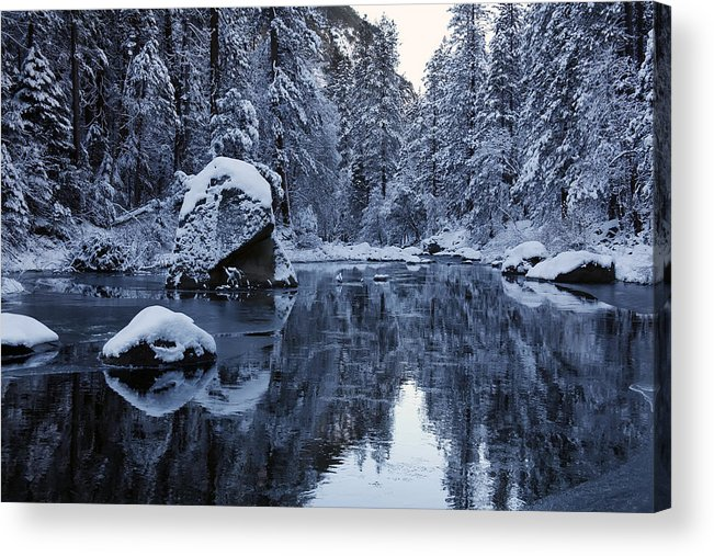 Winter Acrylic Print featuring the photograph Wintery Landscape by Dan Peak